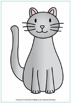template of cat