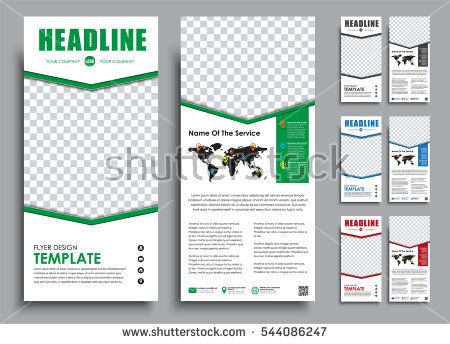 Design White Narrow Flyers Templates  Pages In  Color Versions