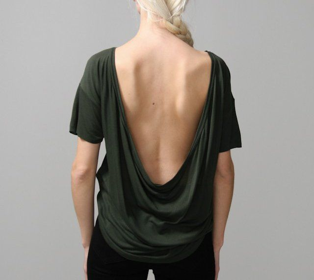 Fancy - Deep Cowl Tee by Oak
