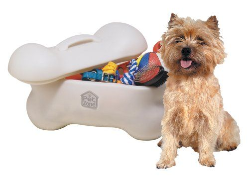 OurPets Big Bone Pet Toy Storage Bin Our Pets ..got This For Our New