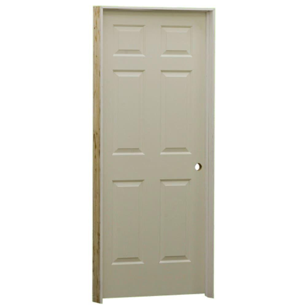 "Hang Blinds Outside Window Frame: EVI 6 Panel Masonite 24"" Interior Door Left Hand"