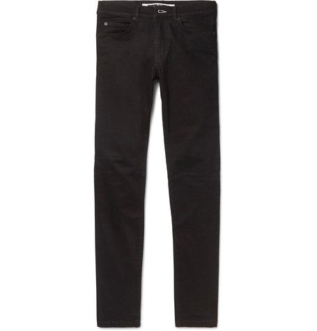 Strummer Slim-fit Panelled Stretch-denim Jeans Alexander McQueen