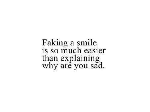 Depressed Quotes Fascinating That Smile Becomes Real Hard It Hurts Alsowhen People Are Talking