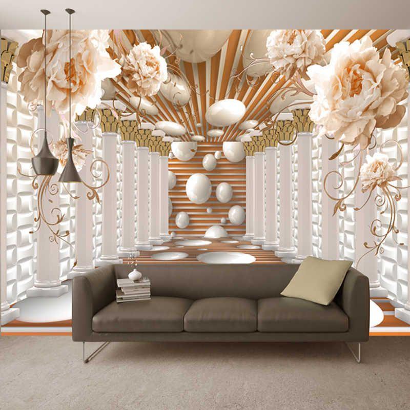 3d Wallpaper Modern Abstract Art Rome Column Flower Photo Wall Murals Living Room Study Backdrop Wall Paper Home Decor 3d Fresco Wall Murals Wall Wallpaper 3d Wallpaper