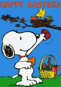 Pin By David Carter On Snoopy Snoopy Easter Snoopy Images Easter Bunny Images