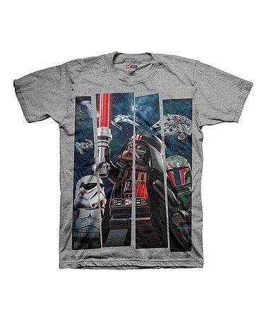 Love this Gray LEGO Star Wars Darth Vader & Lightsaber Tee - Boys on #zulily! #zulilyfinds