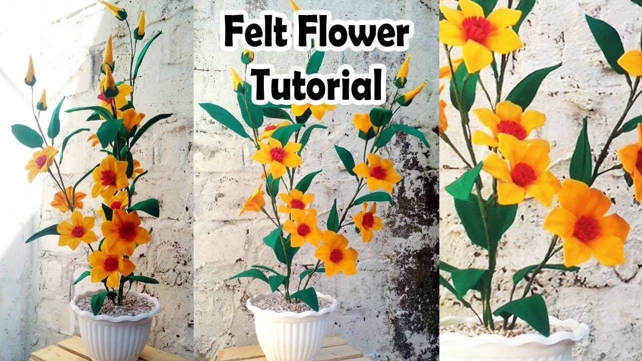 Diy Living Room Corner Flower Bunga Kain Tenun Kain Flanel Bunga