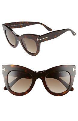 531c8b2544 TOM FORD Designer Karina 47mm Cat Eye Sunglasses