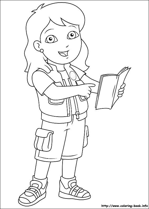 Go Diego Go Coloring Picture Kids Coloring Books Coloring