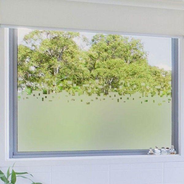 Sticker occultant pour vitre et fen tre rideau cubes - Film occultant vitre ...