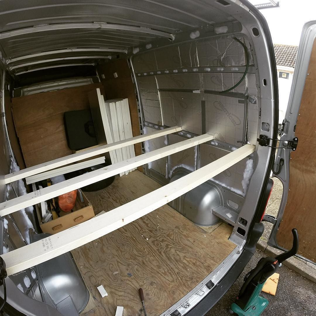 Supports for the raised bed are going in! vanlife
