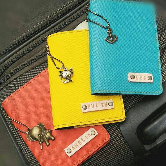 628b44f8d Personalized Passport Holder All items come with FREE name stamping (leather  strap)   1 FREE charm. Simple steps to personalize your desired items