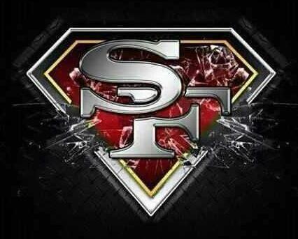 49ers superman logo 49ers all the way pinterest 49ers superman logo voltagebd Gallery