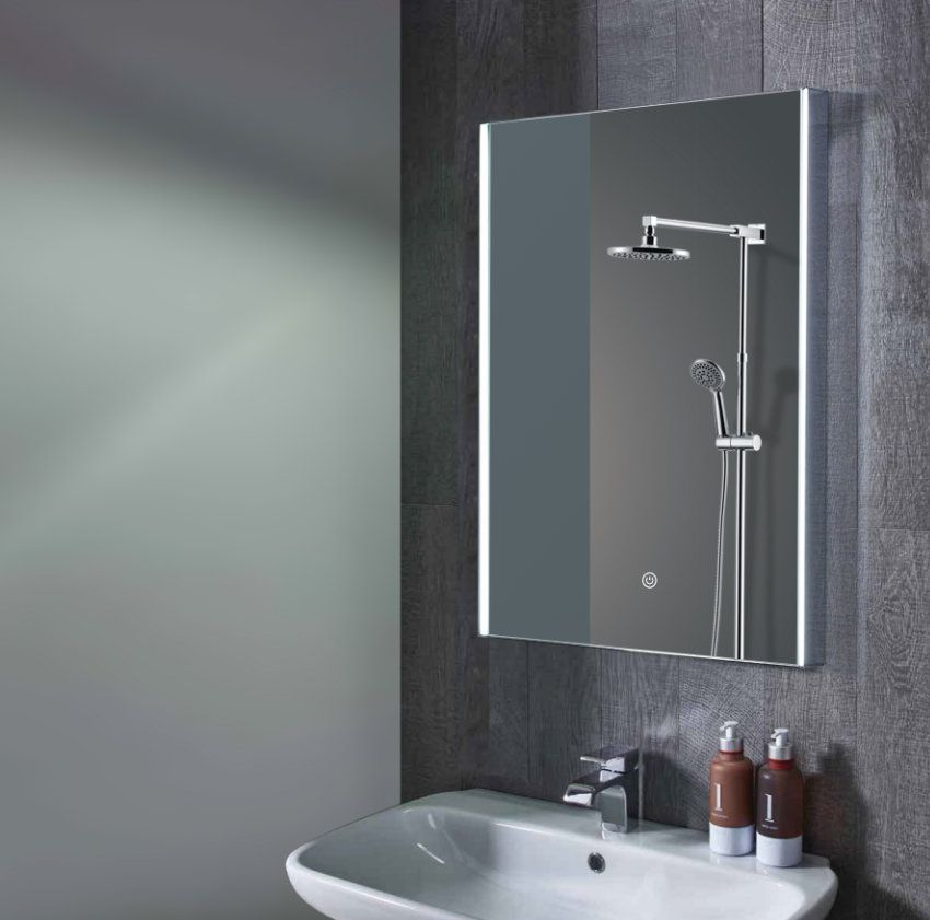 Wellington The Acrylic Light Diffuser On Each Side Of This Mirror Provides An Ample Led Light Source For Makeup Applica Mirror Led Mirror Bathroom Led Vanity