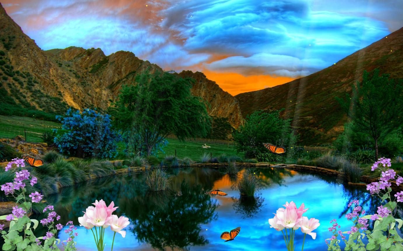 Golden Nature Animated Wallpaper Lake Photos Beautiful Mountains Mountain Lakes