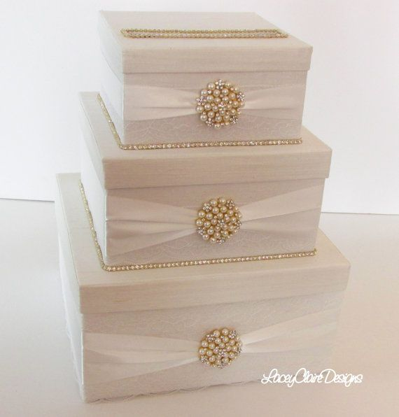 Wedding Card Box Bling Rhinestone By LaceyClaireDesigns