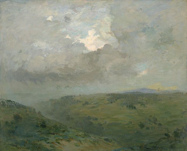""""""" Augustus Vincent Tack (American, 1870–1949), Cloud Wrack, c.1900. Oil on canvas, 29 3/8 x 36 1/8 in. """""""