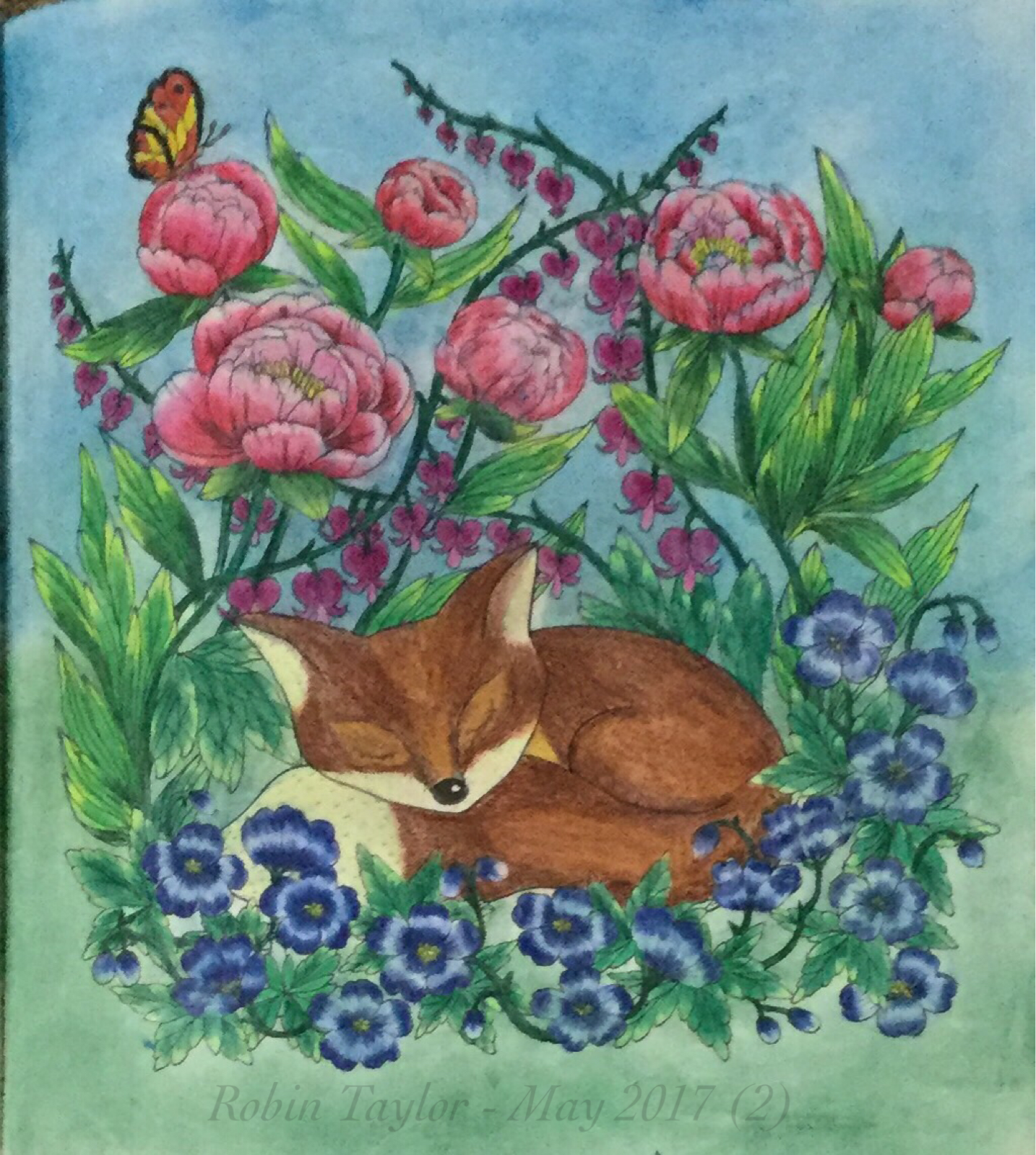 Gardens By Maria: Blomstermandala / Twilight Garden By Maria Trolle. Colored