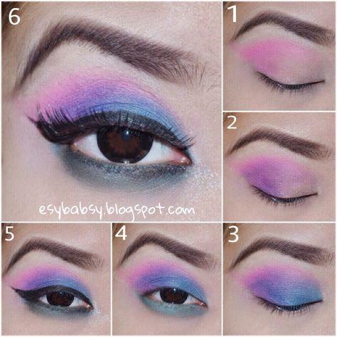 Tutorial 80s Eye Makeup 80s Eye Makeup 80s Makeup 1980s Makeup