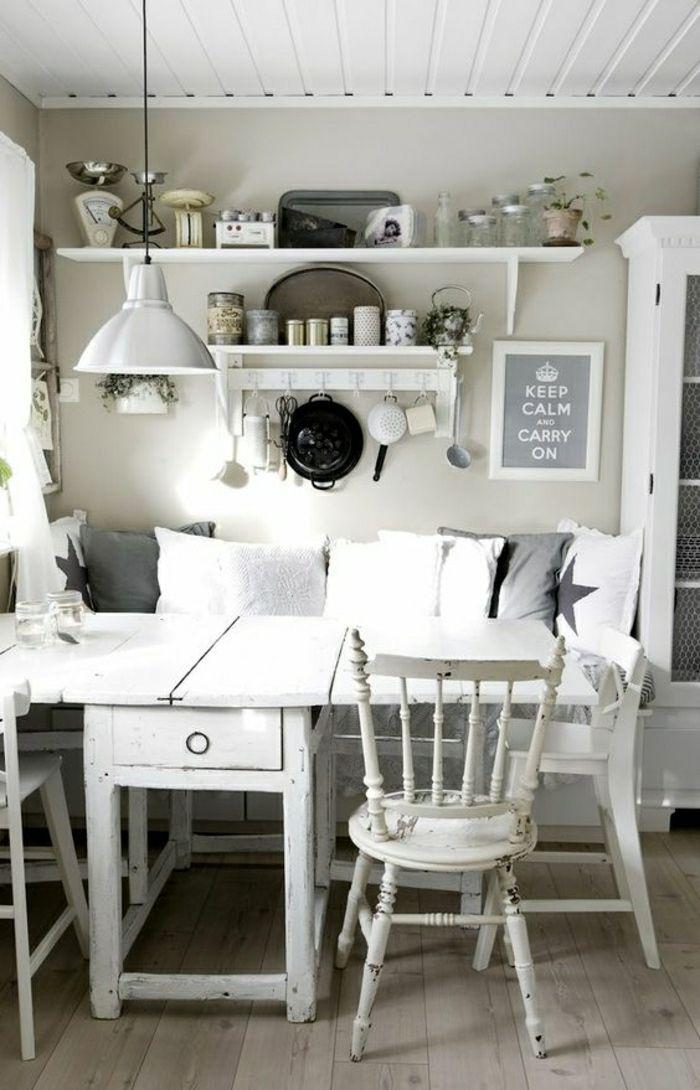 ▷ 1001 + Ideen für Küche Shabby Chic Pinterest Shabby chic - einrichtungsideen sitzecke in der kuche