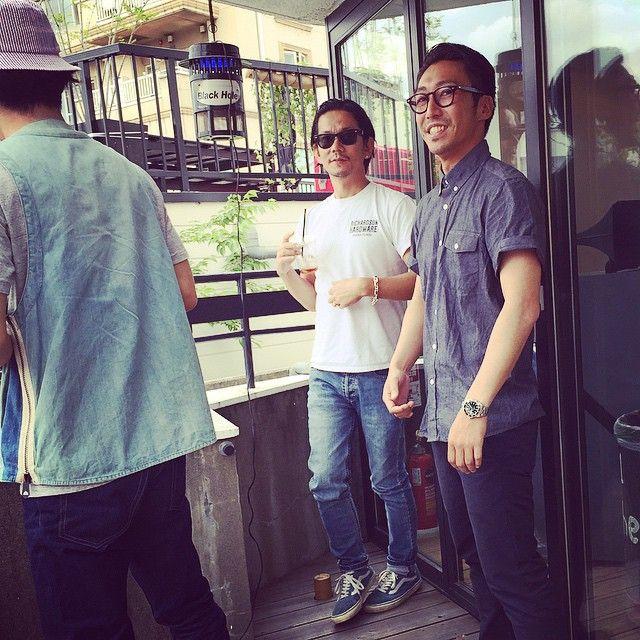 男三人、、、 The world is busy.Love you guys @kunichi_nomura @gypsea_kei