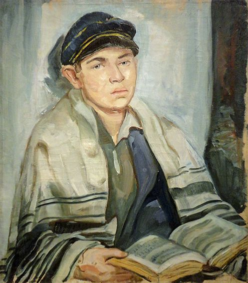 Jewish Boy in Prayer (Erwin Singer, Berlin 1931). Gift of the artist's widow. (Oil on canvas) http://www.deneyim.nl/?p=261