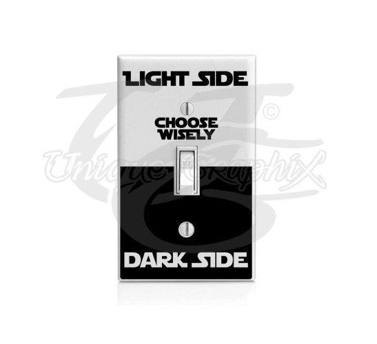 Star Wars inspiriert Licht dunkel Seite Lichtschalter Aufkleber
