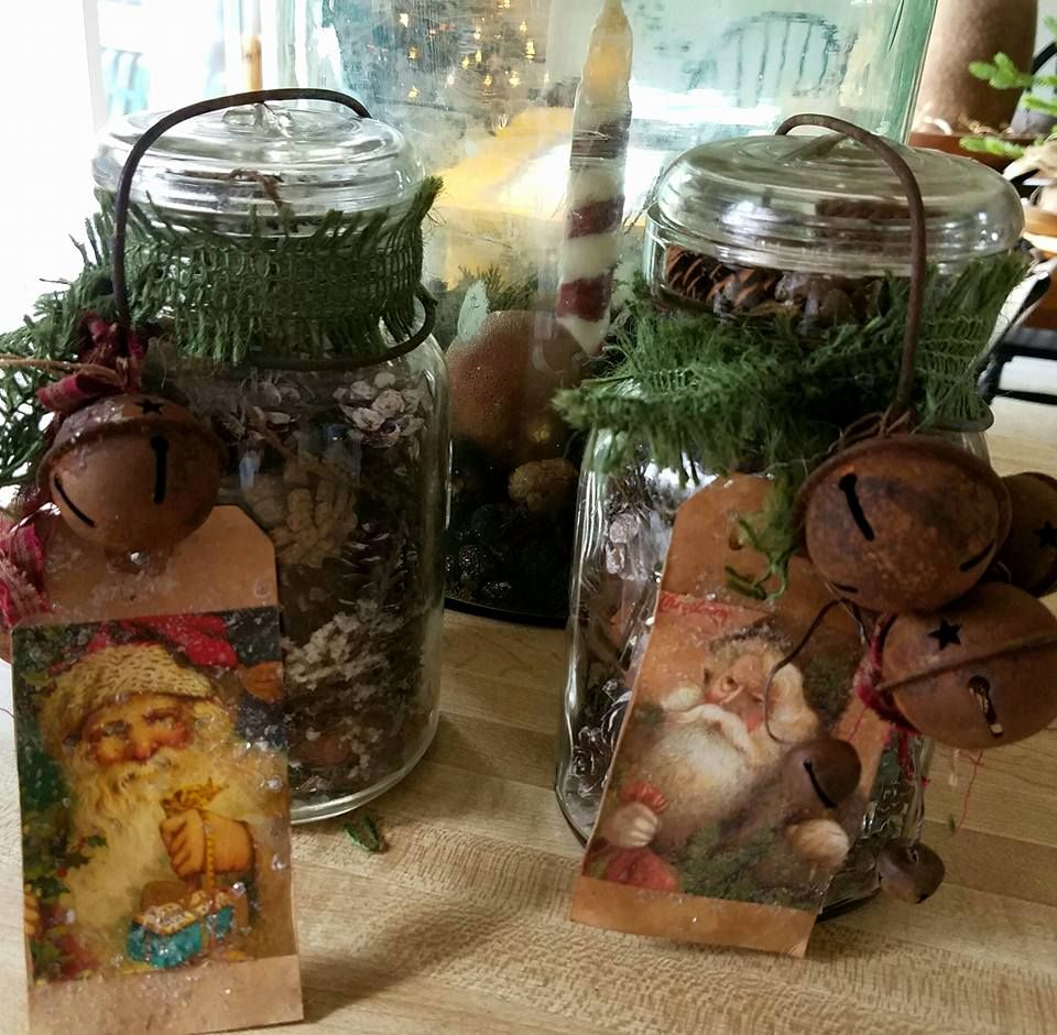 Christmas In A Mason Jar Each Qt Jar Is Filled With