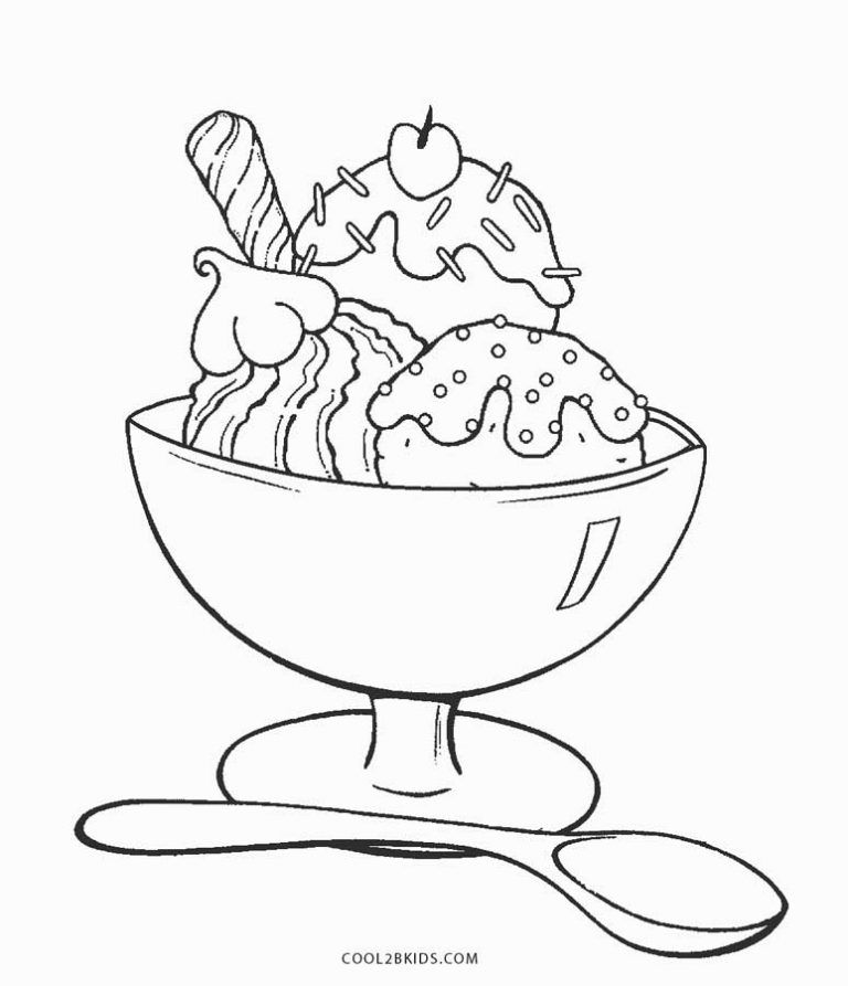 Ice Cream Coloring Pages Ice Cream Coloring Pages Birthday