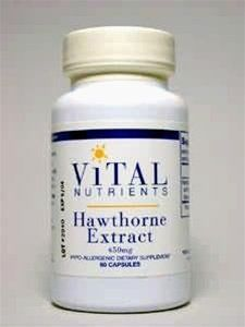 Vital Nutrients Hawthorn Extract 450mg 60 Capsules by Vital Nutrients. $13.79. Supports the protection and preservation of heart tissue. Cardiovascular system support. Hawthorn Extract is used to support the health of the cardiovascular system, including the protection and preservation of heart tissue. Hawthorn also is a tonifier of the vasculature.. Save 23%!