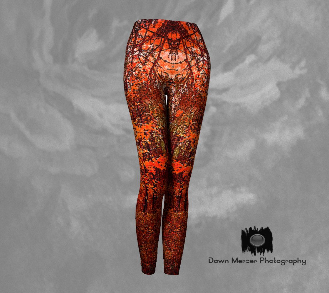 Autumn Art Leggings Womens Colored Tights Yoga Running