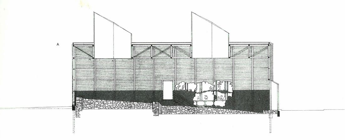 Shelters for Roman archaeological site. Peter Zumthor