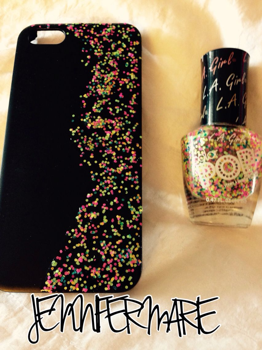 new concept 96513 faca0 This is a black plain dollar tree iPhone 5 case. I got the glitter ...