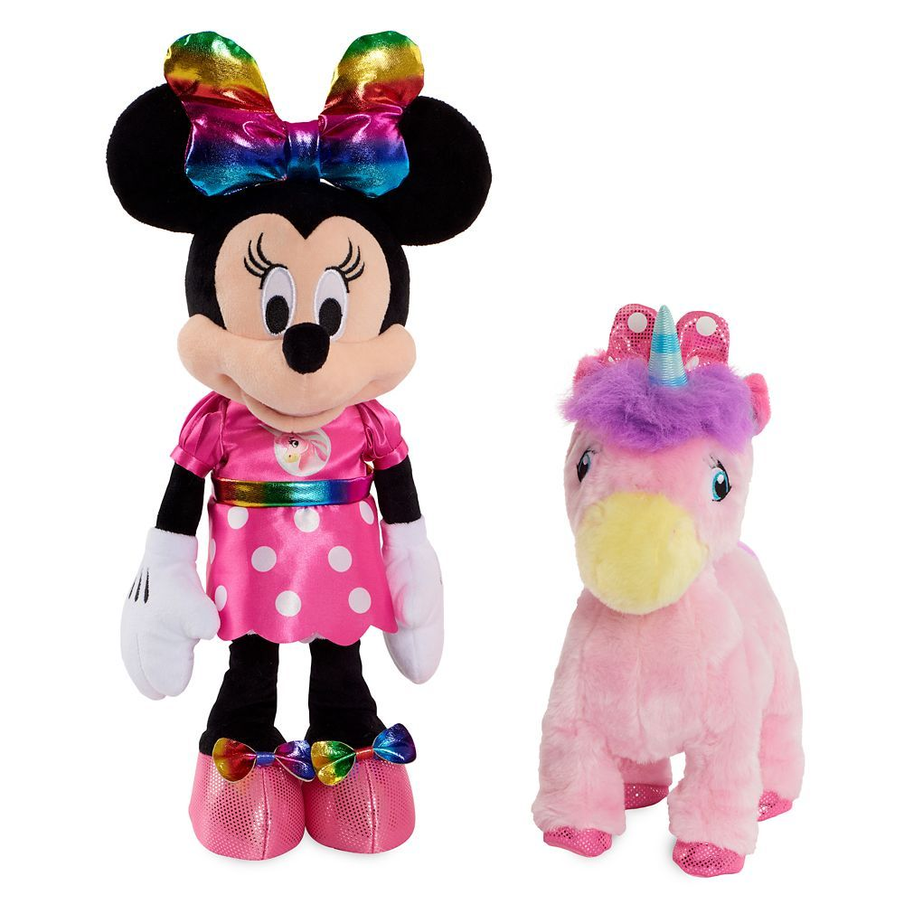 Minnie Mouse And Walk And Dance Unicorn Doll Set In 2020 Unicorn Doll Doll Sets Pink Polka Dot Dress