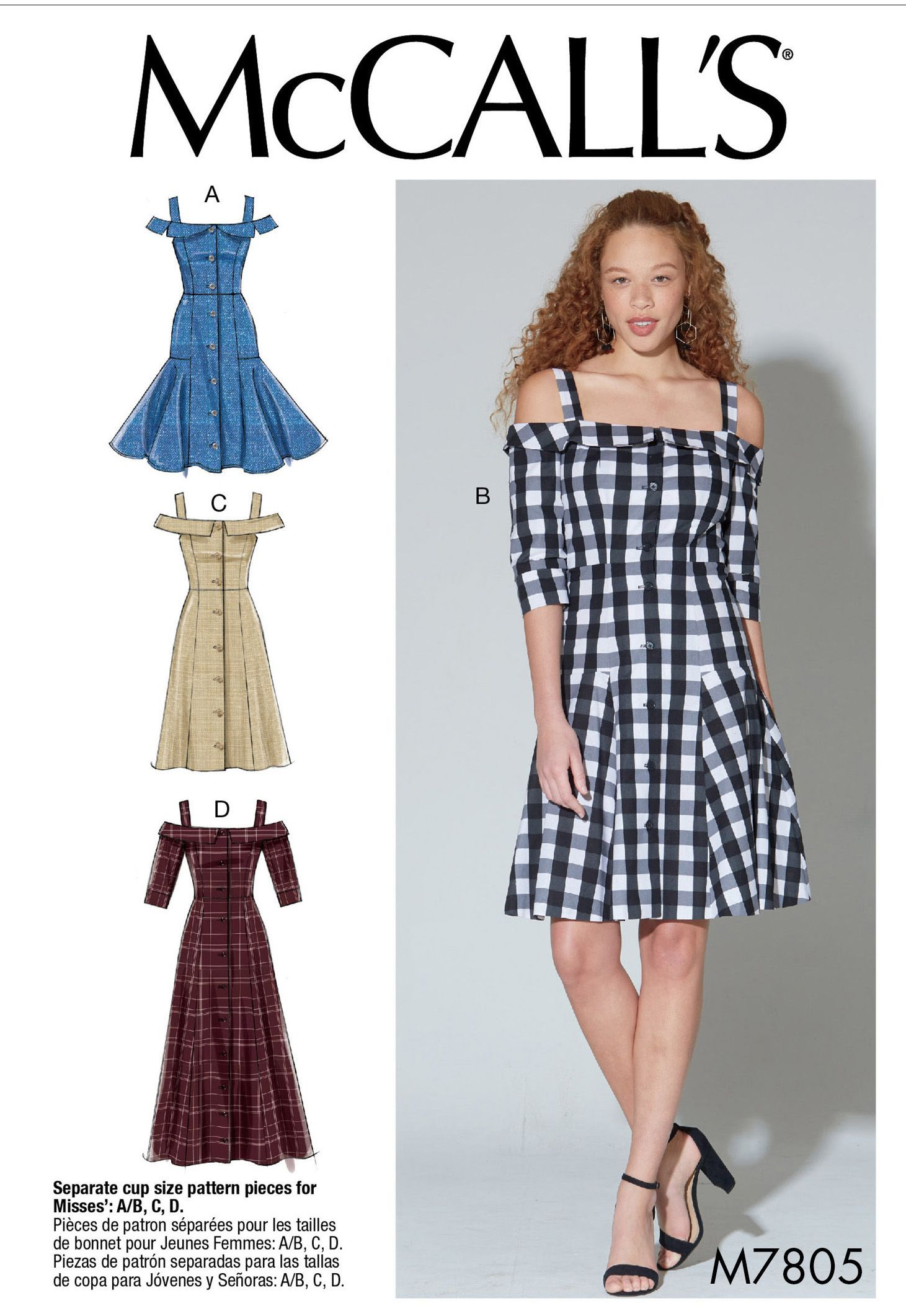 d6e7130f506e Purchase McCall s 7805 Misses  Dresses and read its pattern reviews. Find  other Dresses