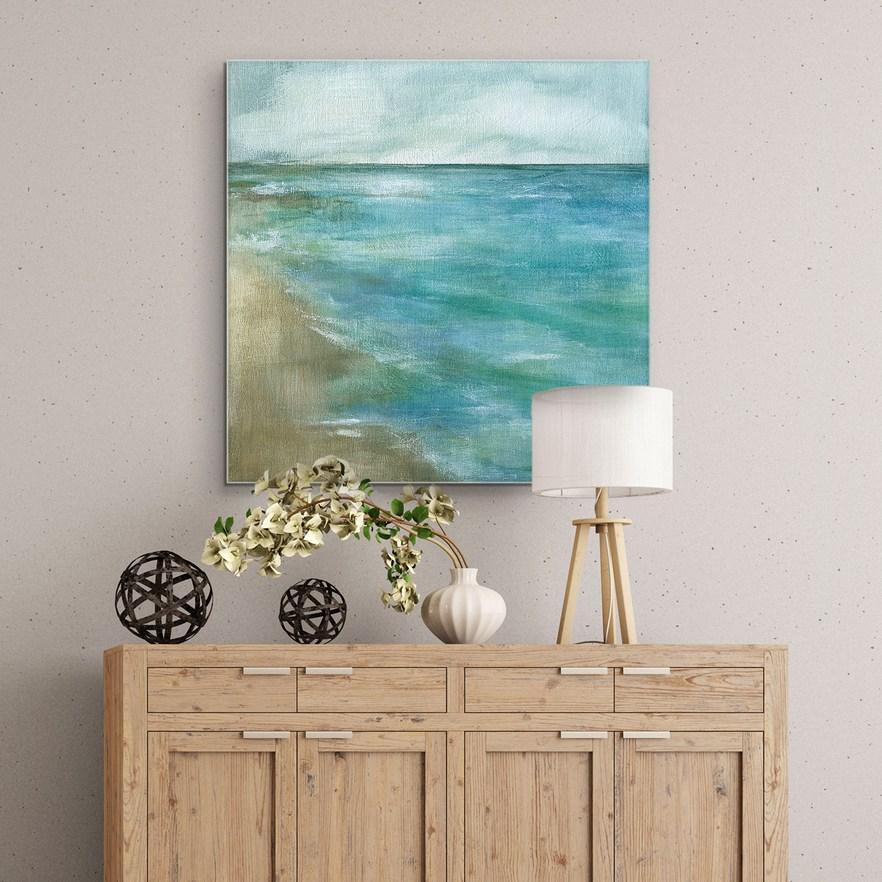 Gentle Tides 35 X 35 Canvas Wall Art In 2020 Canvas Wall Art Square Canvas Wall Art