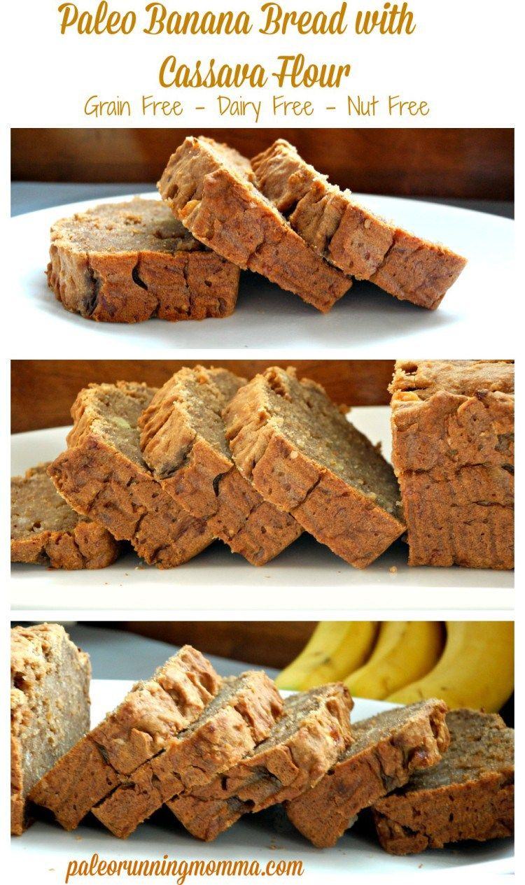 Paleo Banana Bread with Cassava Flour - #grainfree, #dairyfree, and #nutfree! So delicious and healthy!