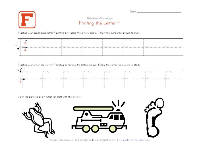 Common Worksheets » Letter F Printable - Preschool and ...
