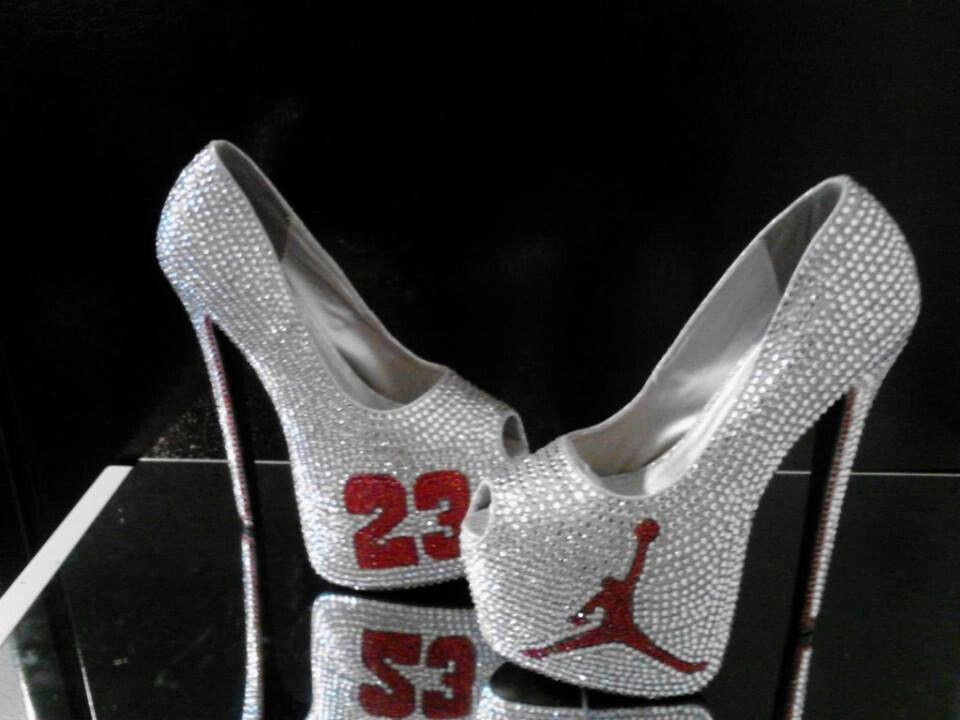 965cb95504d399 Silver   Red Platform Peep-toe Jordan Heels
