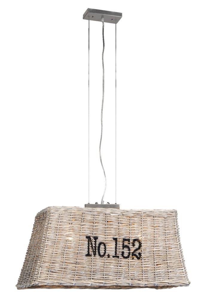 kap hanglamp no 152 rechthoek landelijk stoere lamp voor boven de