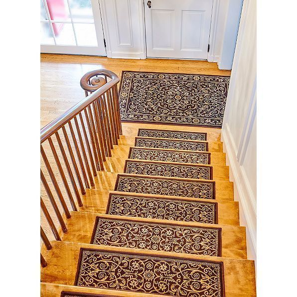 Non Slip Stair Treads Indoor Set Of 4 Step Mat Rugs Low Profile 36 Floor Decor Na