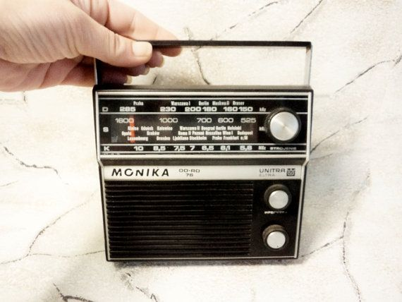 Vintage RADIO RETRO Radio Monika Unitra Working Transistor