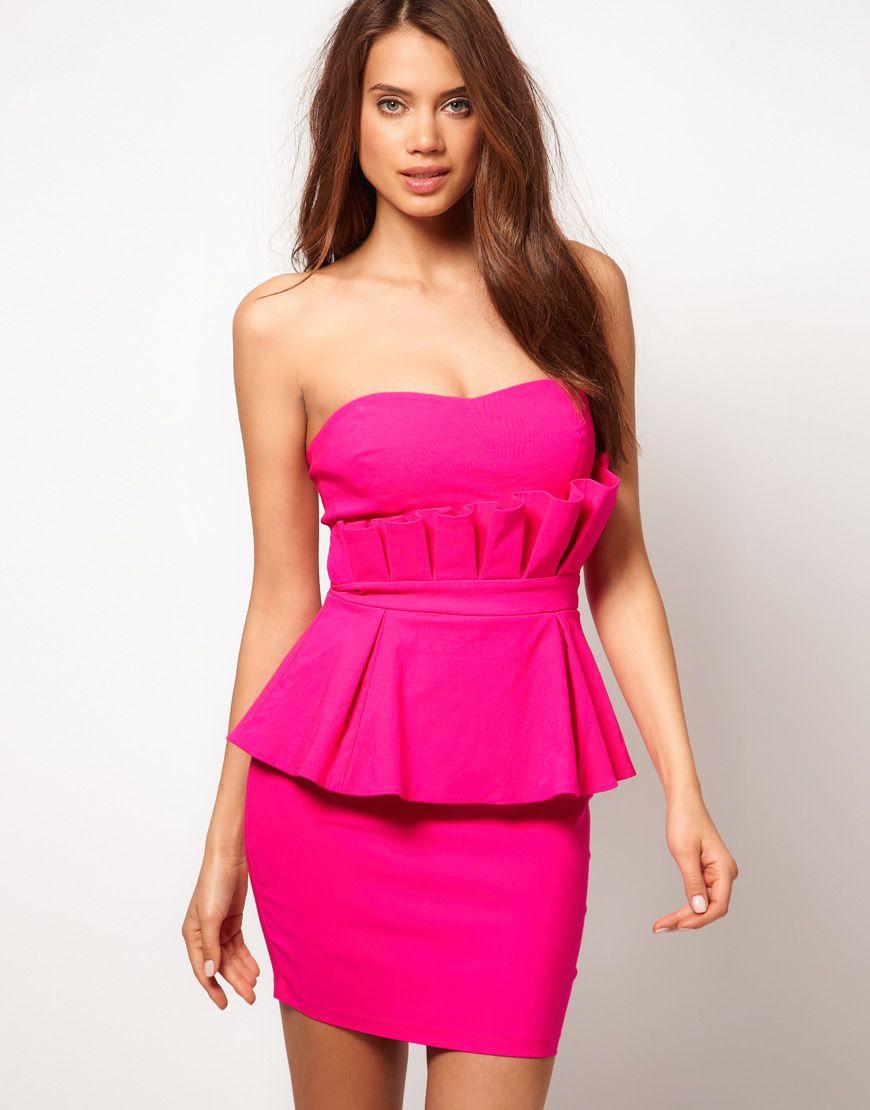 Lipsy Double Peplum Dress | Style | Pinterest | Vestidos cortos ...