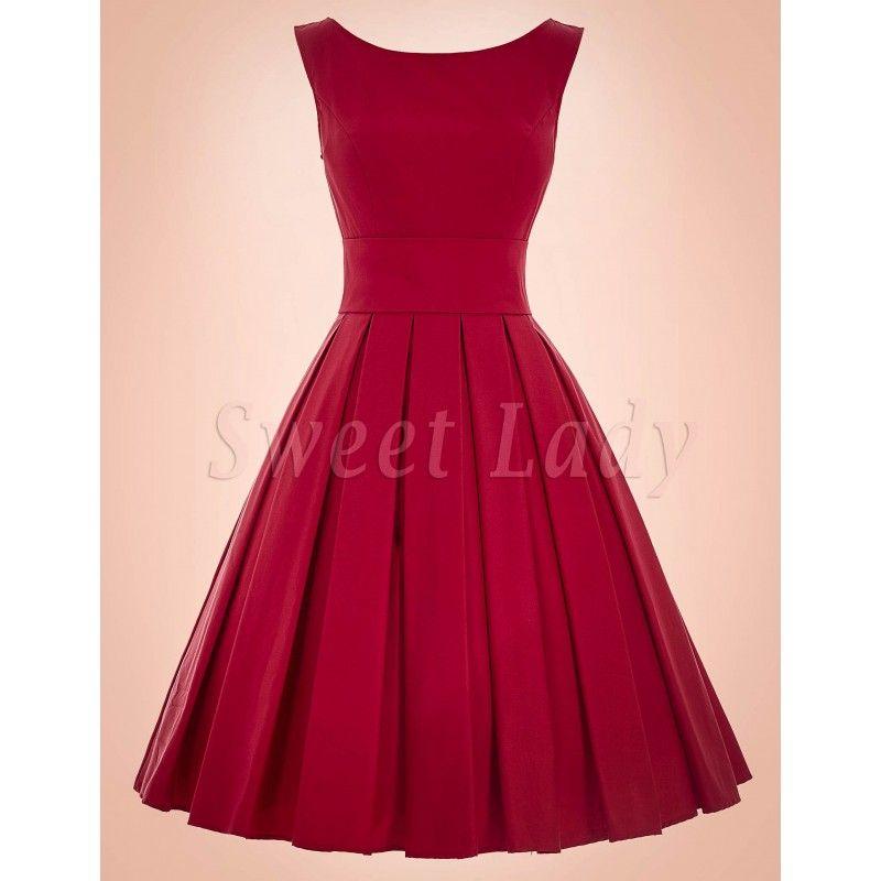 6a9c2d60f189 Červené retro šaty s Ačkovou sukňou