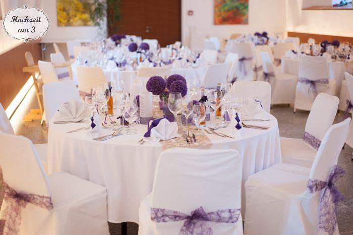 selbstgemacht deko in lila blumen hochzeit pinterest purple wedding wedding and weddings. Black Bedroom Furniture Sets. Home Design Ideas