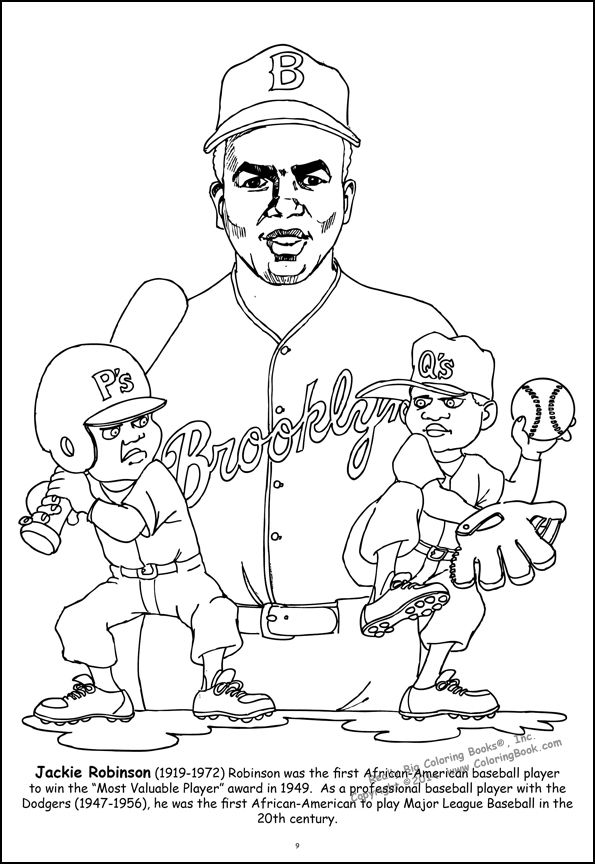 coloring picture of jackie robinson | jackie robinson colouring ...