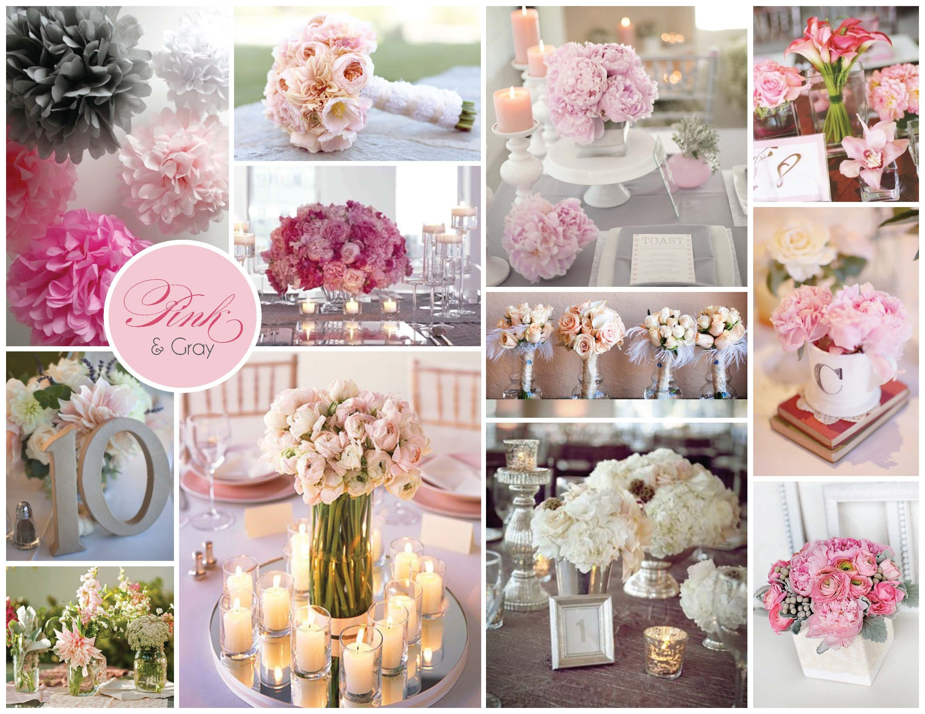Wedding Ideas Pink And Grey I Like The Table Cloths Pictured