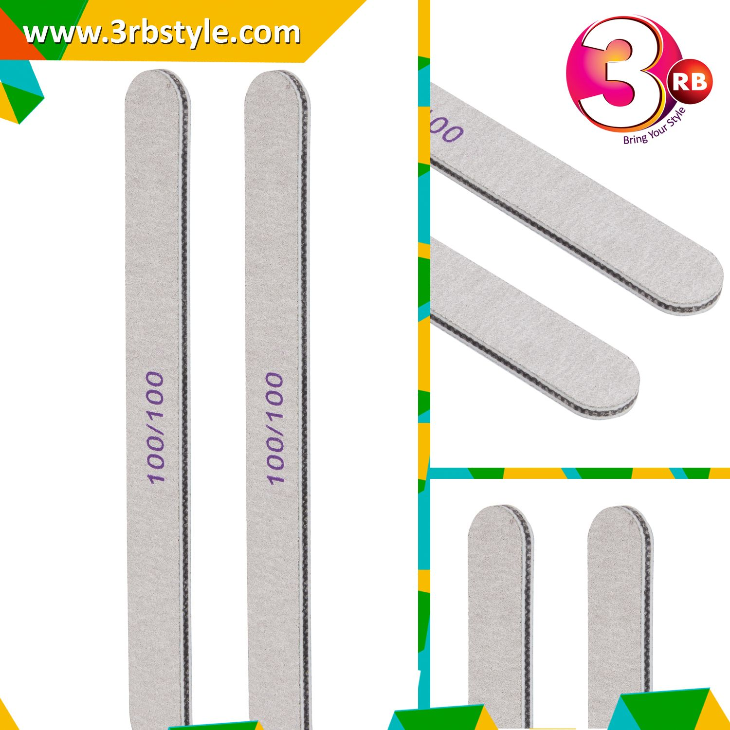3rb - Emery Board Double Side Nail Filer (2 piece) | Pedicures ...