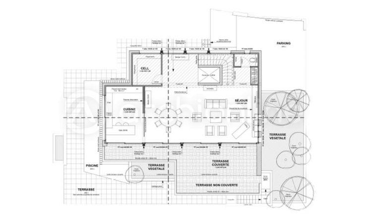 Maison Camille  une maison Moderne conçue par lu0027architecte François - plan de maison sur terrain en pente