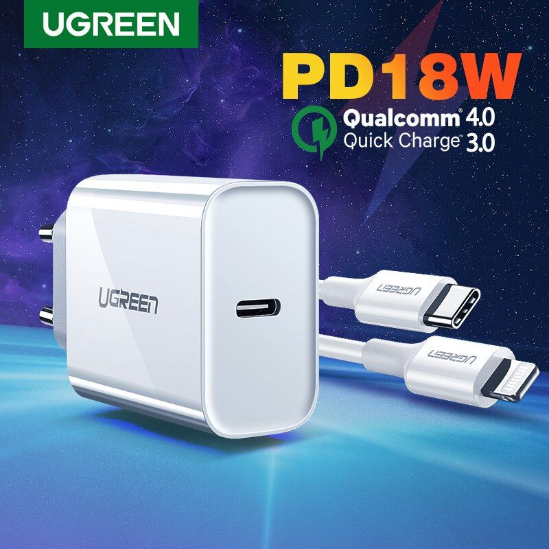 Ugreen Pd Charger 18w Qc4 0 Qc3 0 Usb Type C Fast Charger Quick Charge 4 0 3 0 Qc For Iphone 11 X Xs 8 Xiaomi Phone Pd Charge Phone Case Cover Iphone 11 Iphone